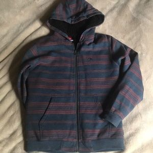 Boys quiksilver fleece zip up hoodie